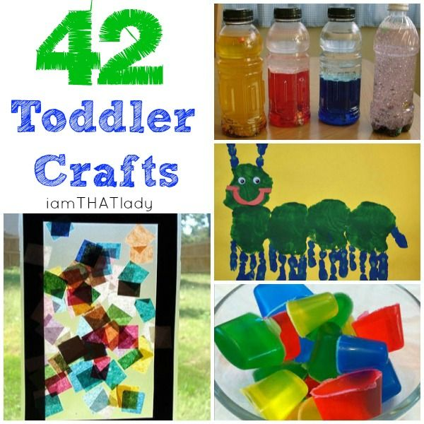 Here is are 42 Creative Toddler Craft Ideas for your kids - click here to print try them out!