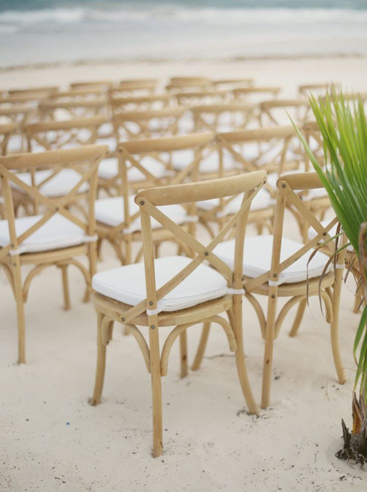 #seating, #wood, #chair Photography: Kyle John Photography - www.kylejohnphoto.com/ Event Planning: Fresa Weddings - http://www.fresaweddings.com/locations/tulum/ Wedding Venue: Akiin Beach Club - www.akiintulum.com/