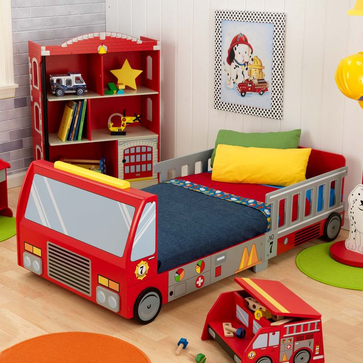 Have to have it. KidKraft Fire Truck Toddler Bed - $148.95 @hayneedle