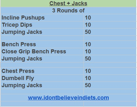 Chest + Jumping Jacks Workout