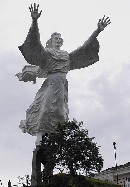 Christ Blessing, statue of Jesus Christ Manado City, Indonesia. 98ft +60ft base