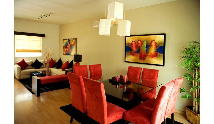 Decoraci n en espacios sala comedor decoraciones para for Decoracion de living room