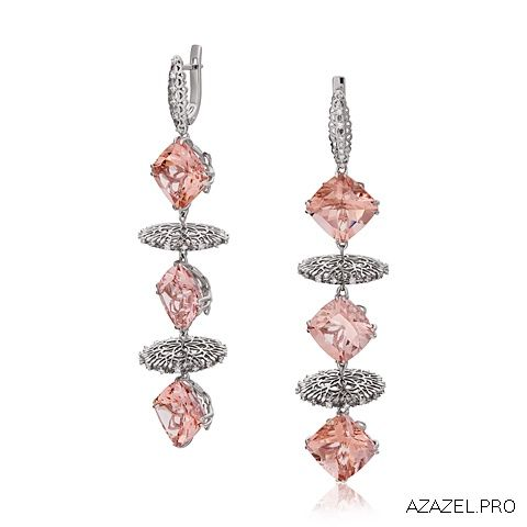 Серьги с Морганитом Earrings with Morganite  #earrings #moscow #алмаз #москва #morganite #красота #бриллиант #мода #любовь #fashion  #серьги #кольцо #jewelry #flowers #ярмарка #цветы #gemstone #exclusive #handmade #эксклюзив #подарок #ювелир #almaz #перстень #diamond #сувенир #галерея #морганит