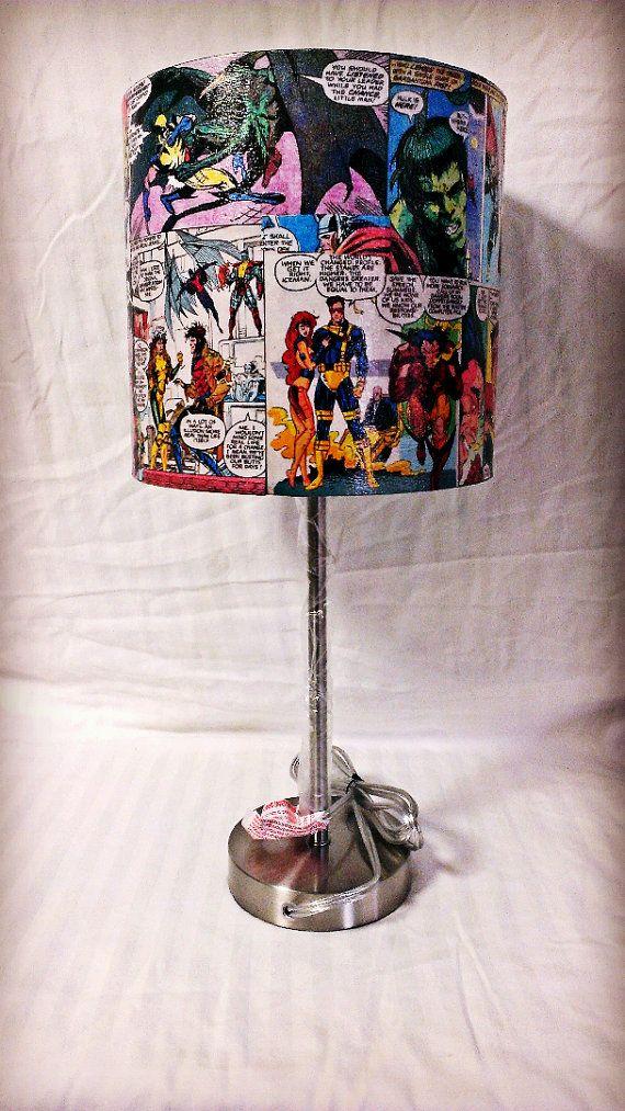The Avengers and Xmen Custom Comic Book Lamp by AWhimsicalHoot, $70.00