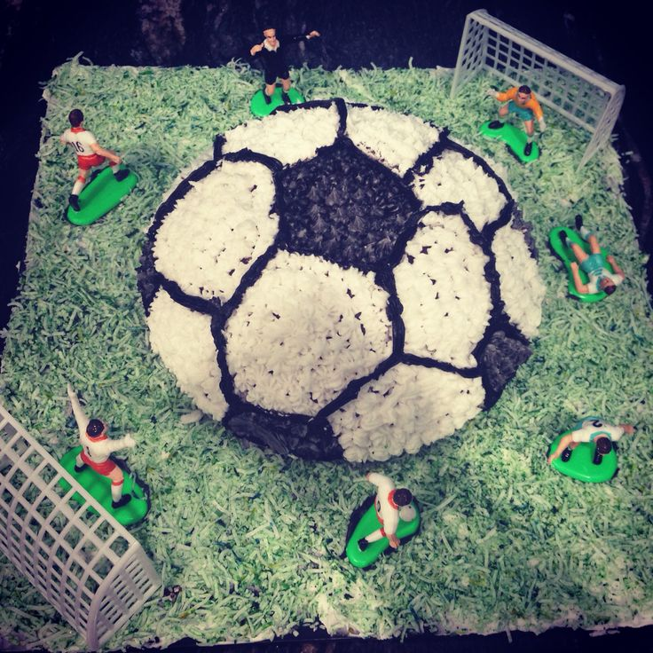 Terrific Soccer Birthday Cake Createdbymum Props Purchased From Cake Funny Birthday Cards Online Inifodamsfinfo