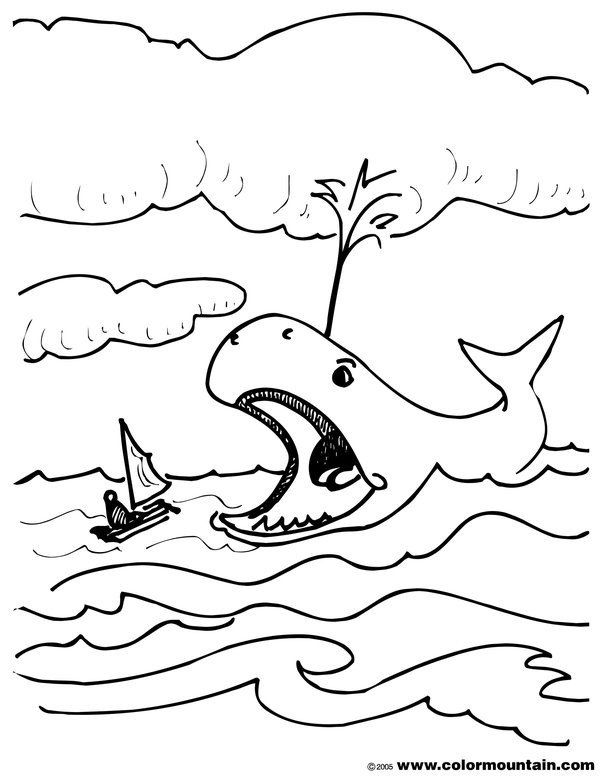 Bible Story Coloring Pages Jonah And The Whale Bible Story Coloring Pages Cute Colori In 2020 Whale Coloring Pages Coloring Pages Jonah And The Whale
