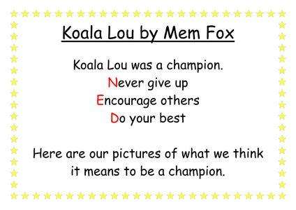 koala lou activities - Google Search
