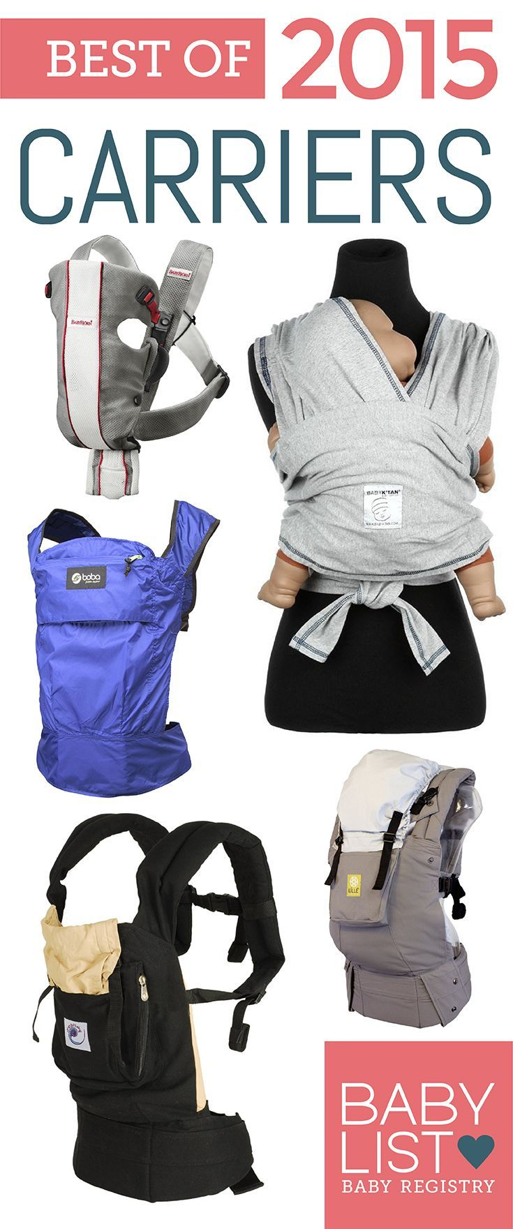 A pleasure to be included on the Baby List best of 2015 for Boba Carrier 4G. <3