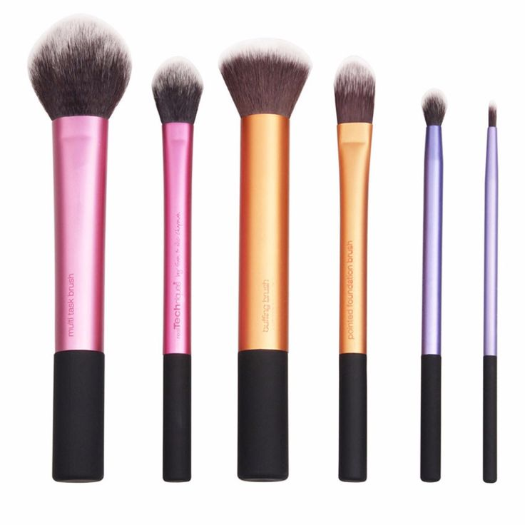 Metallic Cosmetic Brushes (6pc-set), 80.6% discount @ PatPat Mom Baby Shopping App