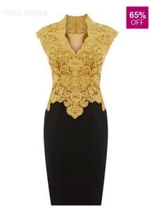 Lace Embroider Sleeveless Little Party Dress - 65% discount ending soon