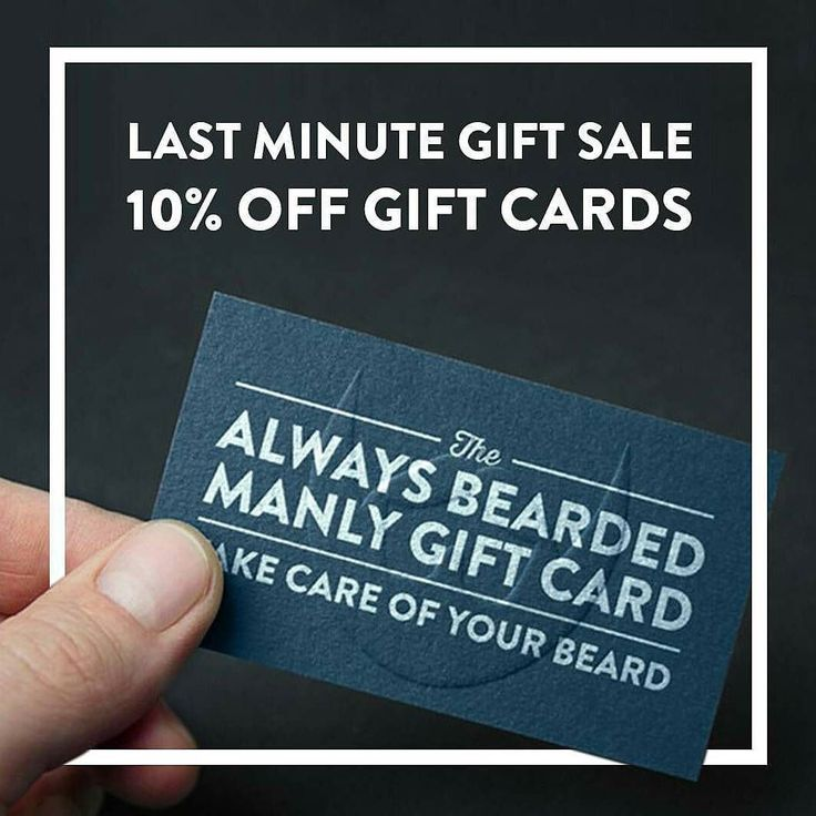 We can't guarantee shipping in time for Christmas but you still have time to get him what he really wants. Take 10% off gift cards from now till 11:59pm on Christmas Eve with promo code 'LASTMINUTEGIFT'. Delivery happens immediately following purchase to your email just print it out and give him the gift of a better beard. It's that simple | Alwaysbearded.com -- #alwaysbearded #beards #beardsofinstagram #beardseason #beardstagram #beardsandtattoos #beardsofig #beard #beardman #beardporn…