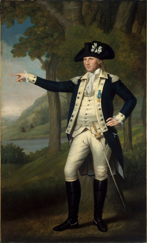 """In this blog post, curator Betsy Kornhauser discusses a sword in the exhibition """"Arms and Armor: Notable Acquisitions, 2003–2014"""" that appears in a portrait of Revolutionary War hero Colonel Marinus Willett.   Ralph Earl (American, 1751–1801). Marinus Willett, ca. 1791. Oil on canvas. The Metropolitan Museum of Art, New York, Bequest of George Willett Van Nest, 1916 (17.87.1) #sword"""