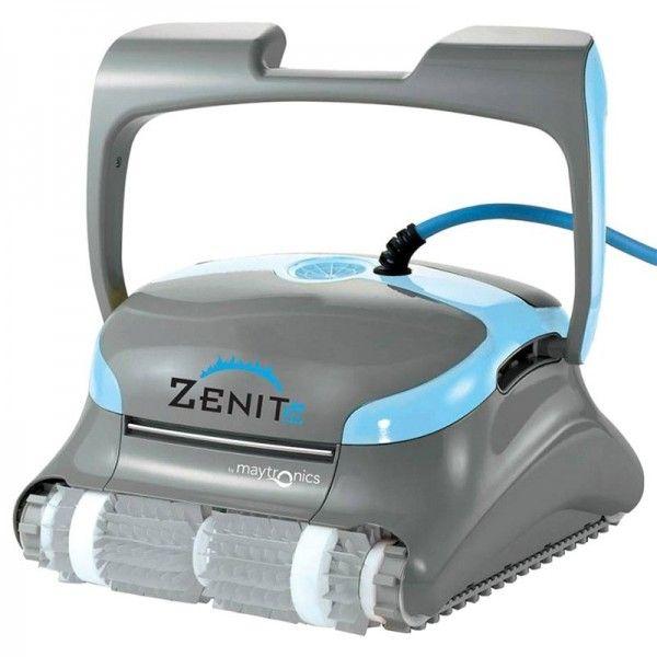 #Limpiafondos #Dolphin Zenit 20 para suelos y paredes de #piscinas hasta 12m. Carro de transporte y... ¡3 años de garantía!