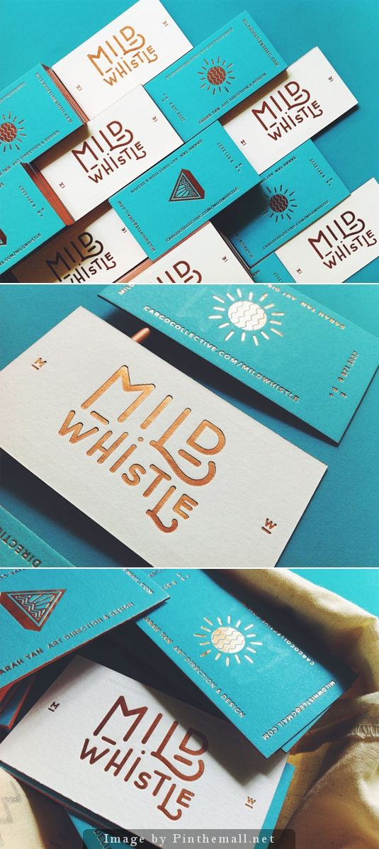 turquoise corporate identity - white gold turquoise business cards and typographical logo - design inspiration - beautiful graphic design