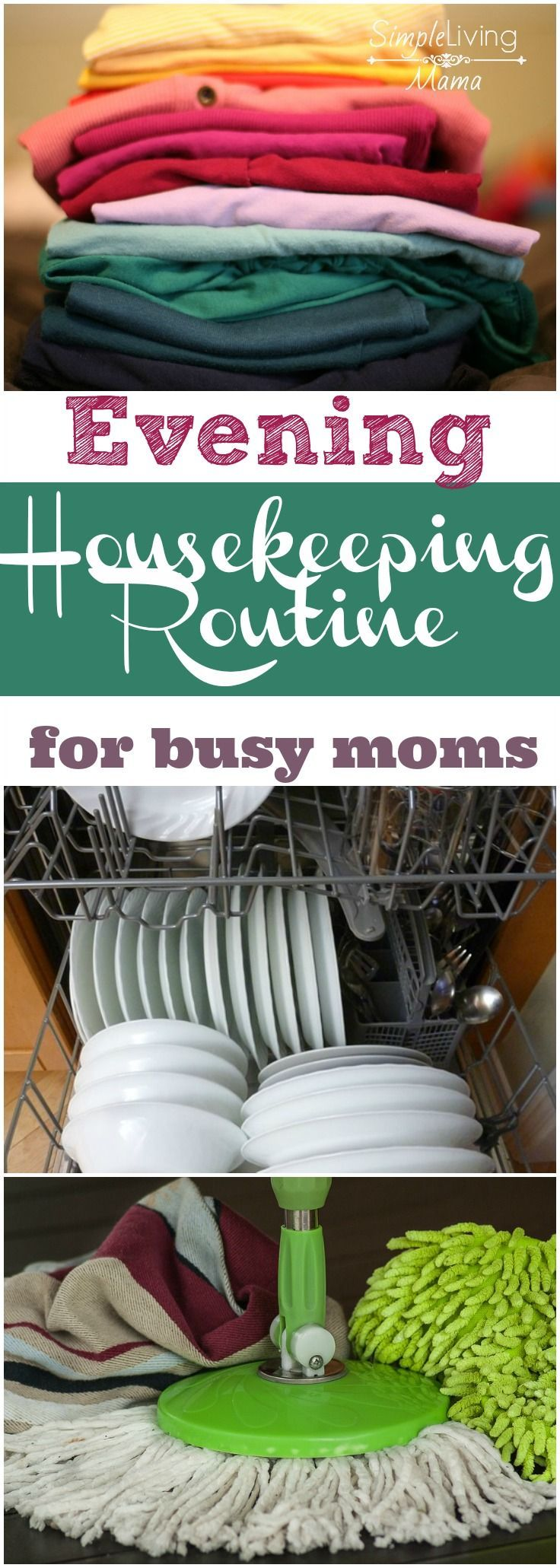 An evening housekeeping routine will get your home in order so you can wake up and tackle the day.