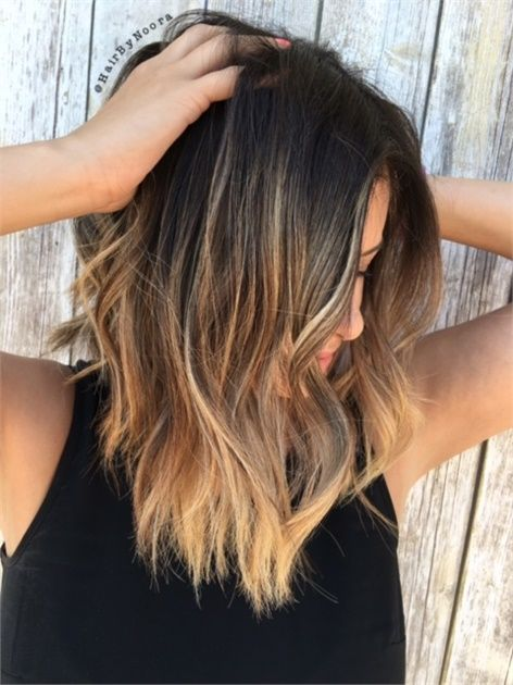 howto balayage highlights on brunette lob fashion and