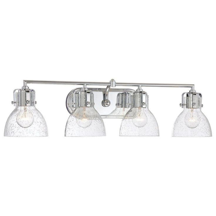 buy the minka lavery chrome direct shop for the minka lavery chrome 4 light width bathroom vanity light with clear seeded shade from the seeded bath art