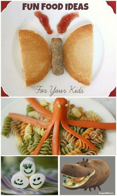 Super Easy and Fun Food Ideas that Kids Will LOVE!  It only takes a few minutes to make their day.