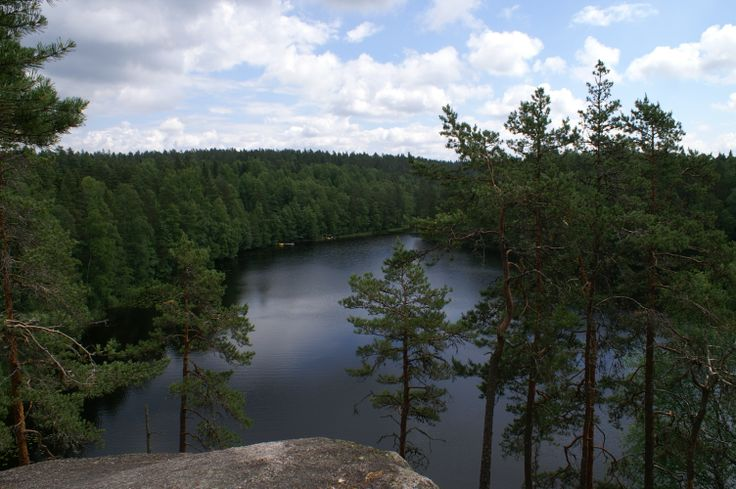 View over Haukkalampi Lake
