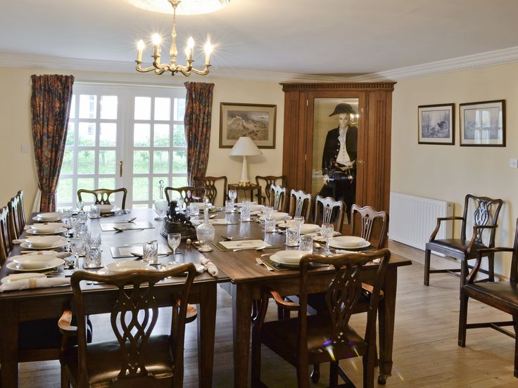 There is a lovely big dining room which has French doors to the garden making it ideal for larger groups of family and friends.