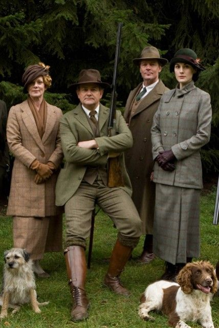 The stars of #DowntonAbbey, from left, Samantha Bond, Hugh Bonneville, Iain Glen, and Michelle Dockery.