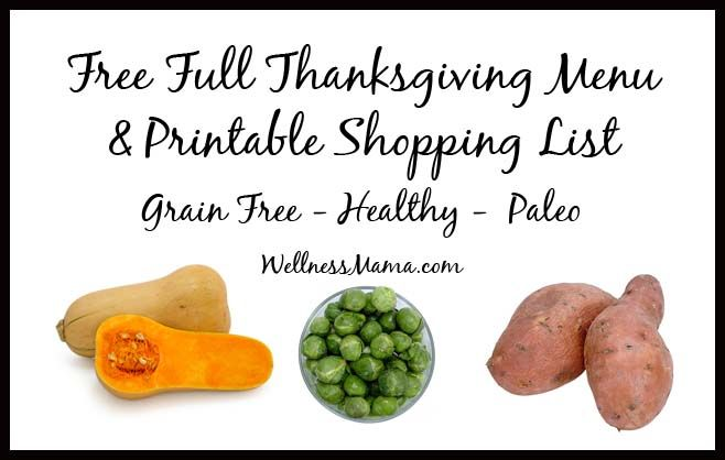 This Thanksgiving menu gives you the taste of all of the classics with healthier ingredients. Free printable shopping makes Thanksgiving easy!