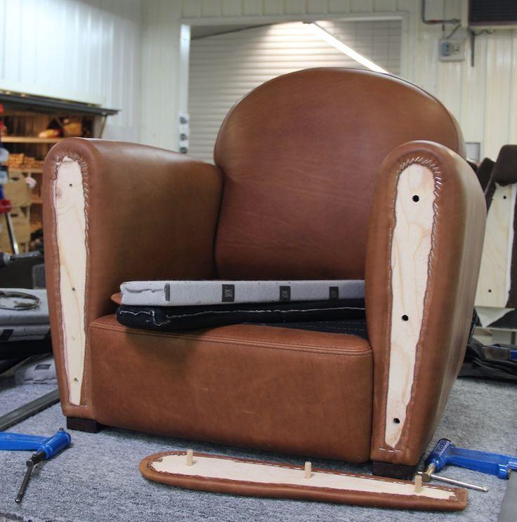 Fabrication fauteuil club - Canapés Duvivier fauteuil Mermoz