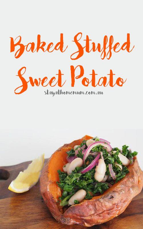Baked Stuffed Sweet Potato