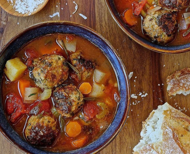 Spinach Meatball Minestrone: Spinach gives this minestrone a Popeye-approved spin.
