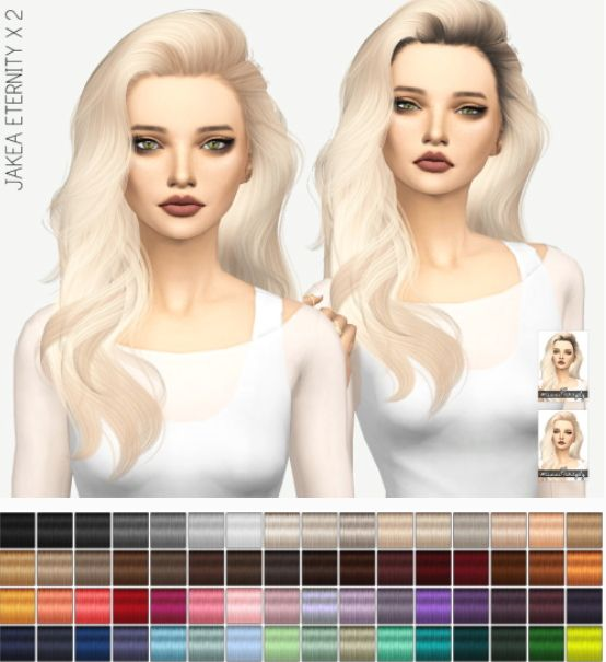 Miss Paraply: Jakea Eternity hair: solids and dark roots • Sims 4 Downloads