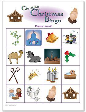 Christmas Christian Bingo