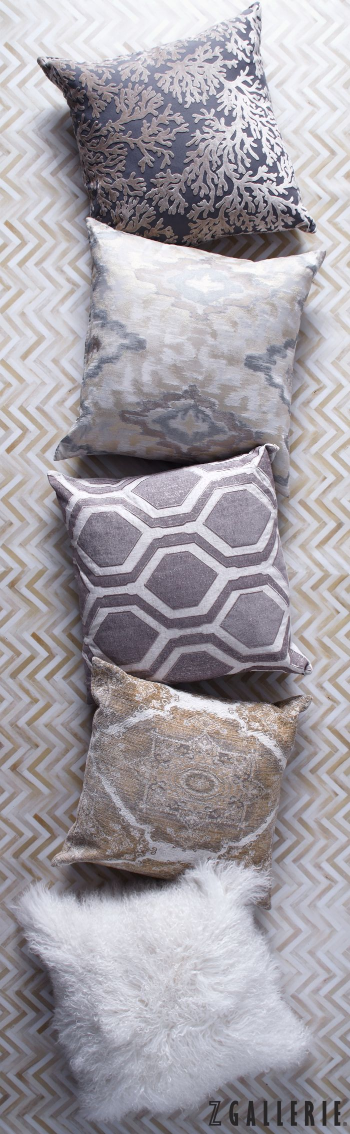 Z Gallerie Style Tip: pile on plush pillows for an instant + easy update.