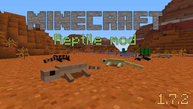Reptile Mod 1.7.2 - http://www.minecraftjunky.com/reptile-mod-1-7-2/