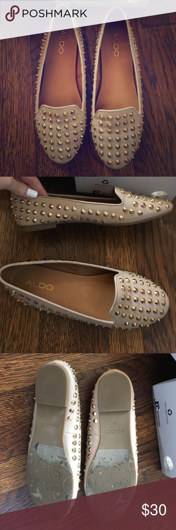 Aldo size 6 studded flats Only worn a few times. Great condition and very comfortable, I just have too many shoes! ALDO Shoes Flats & Loafers