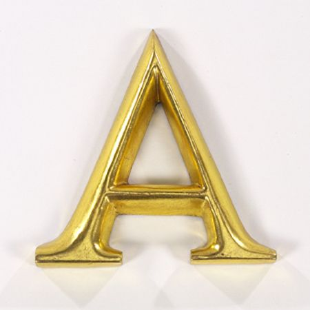 "Gold Gilded Letter - A | ""A"" 