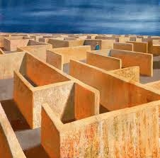 Jeffrey Smart's last painting: Labyrinth
