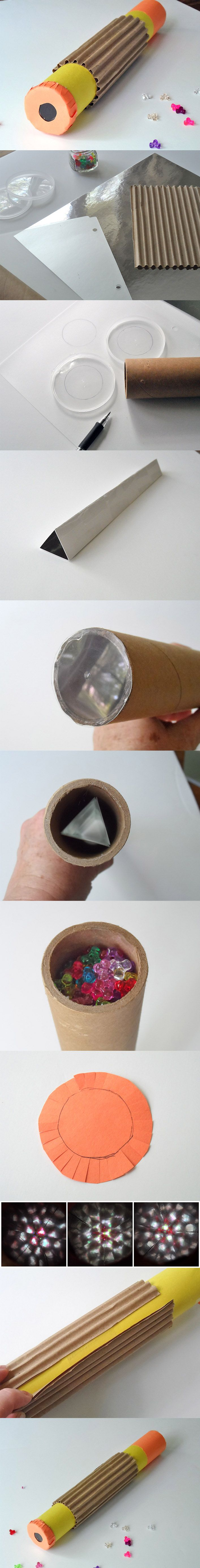 Cómo hacer un caleidoscopio casero