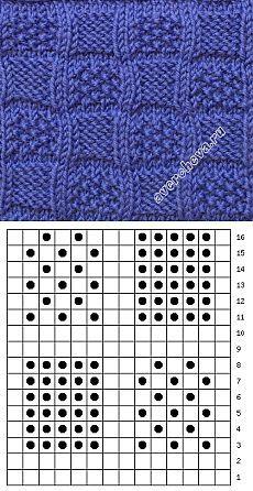красивый рельефный узор | каталог вязаных спицами узоров