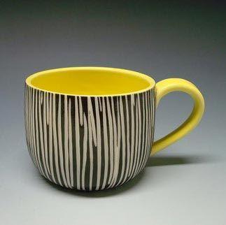 Sgraffito mug (via shoshonasnow on Etsy)