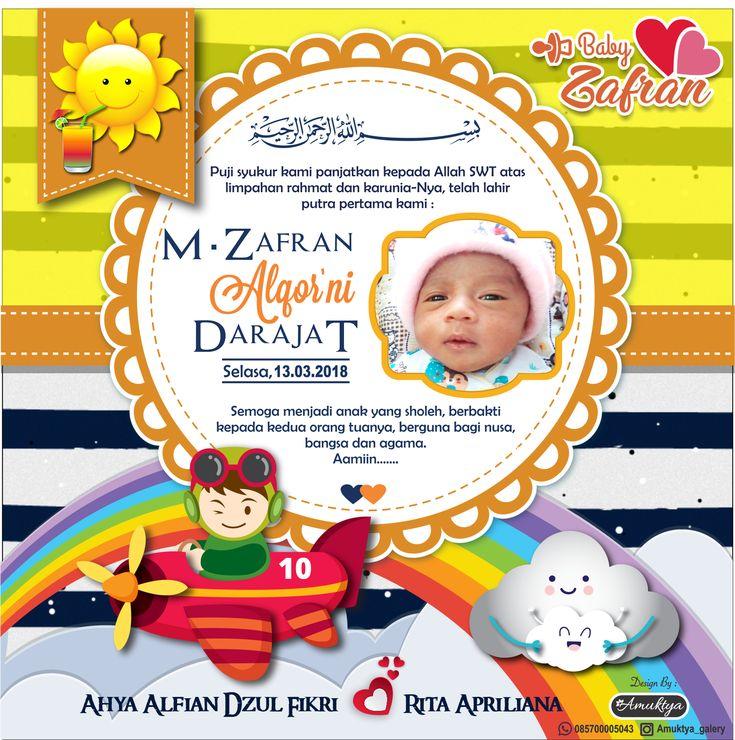 Ucapan Syukuran kelahiran bayi, untuk acara Aqiqah atau ...