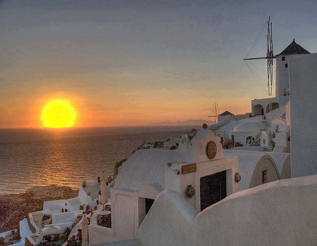 Beautiful sunset ..Oia Santorini !!!