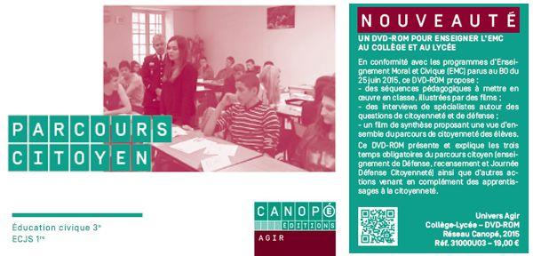 Parcours citoyen - Un Dvd-Rom pour enseigner l'#EMC au collège et au lycée @reseau_canope