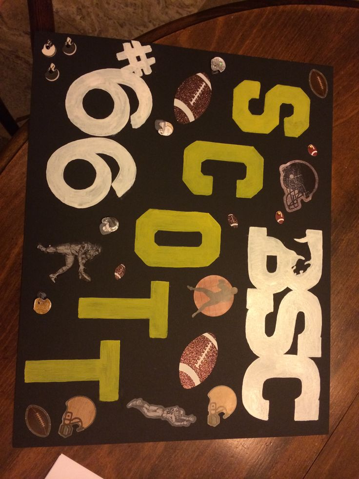 homemade football posters
