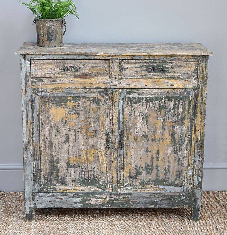 Antique French Painted Cabinet - Bring It On Home