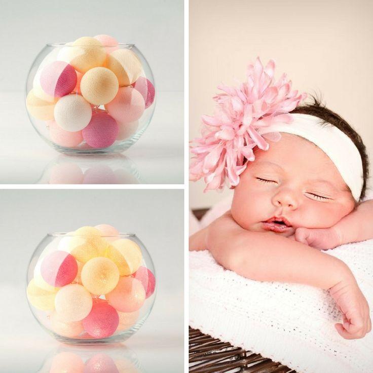 Нежно-пастельные тайские фонарики «Baby Doll» преобразят интерьер детской комнаты и станут любимым ночником вашего малыша. / Cottonball lights «Baby Doll».