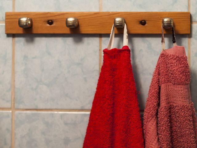 Handdukshängare #ikea #handuk #toilet #sweden