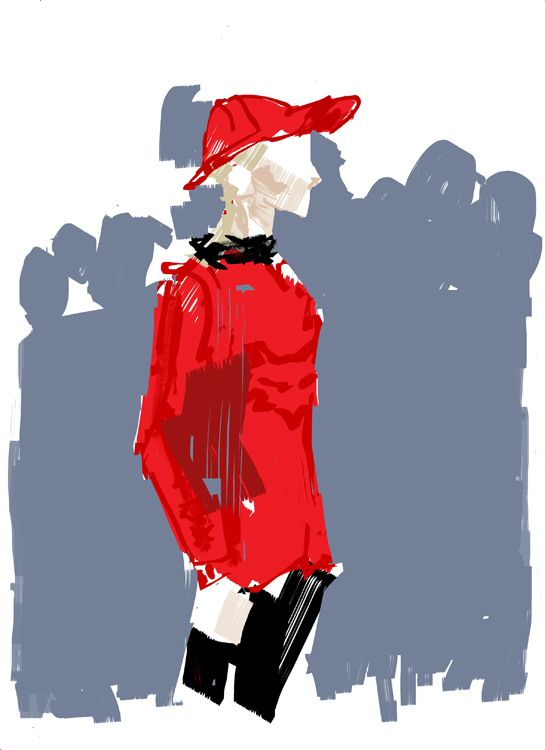 Streetstyle, summer 2014  - fashion illustration by David Andrews