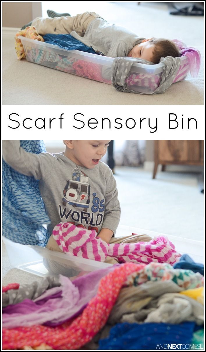Simple sensory bin for kids - perfect sensory activity for babies, toddlers, and preschoolers from And Next Comes L