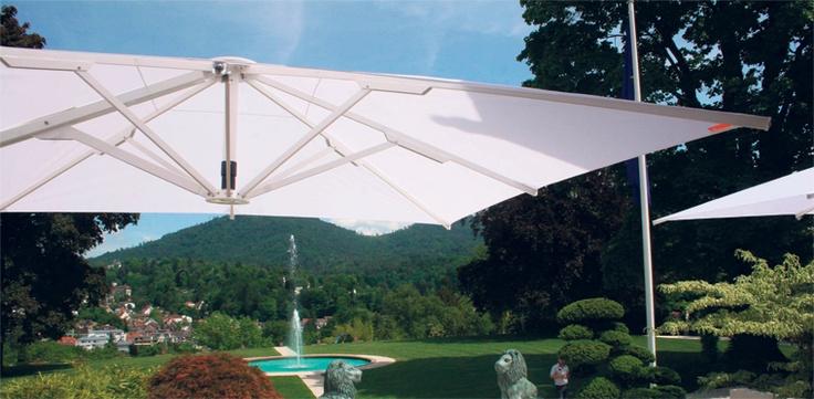 Prestige giant cantilever umbrella white for the home patio pinterest umbrellas and - Sun garden prestige ...