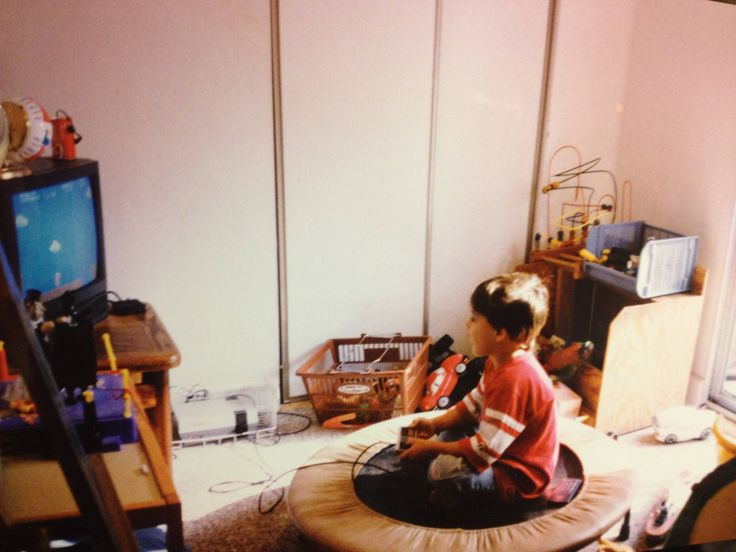 Me playing NES on a trampoline 1989
